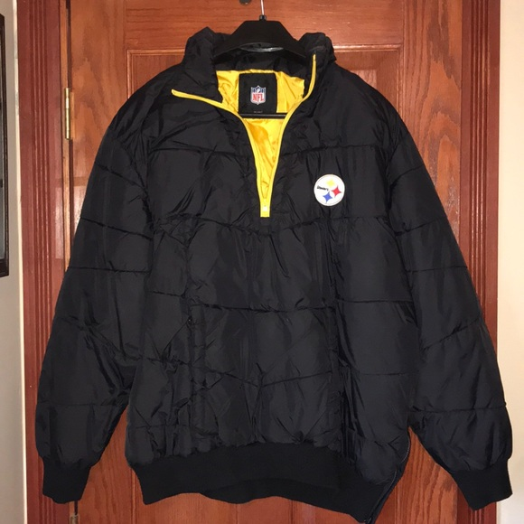 promo code 0a671 2b6fb Men's NFL Steelers Pullover Jacket Size XXL